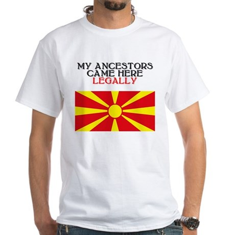 Macedonian Heritage White T-Shirt
