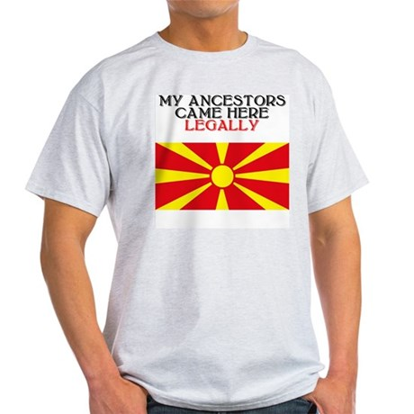 Macedonian Heritage Ash Grey T-Shirt