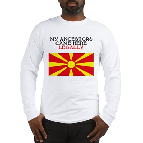 Macedonian Heritage Long Sleeve T-Shirt