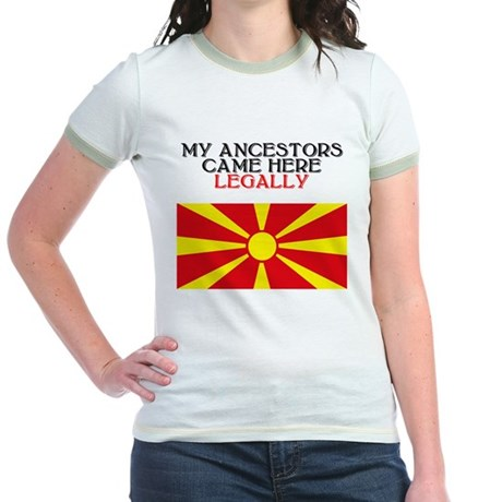 Macedonian Heritage Jr. Ringer T-Shirt