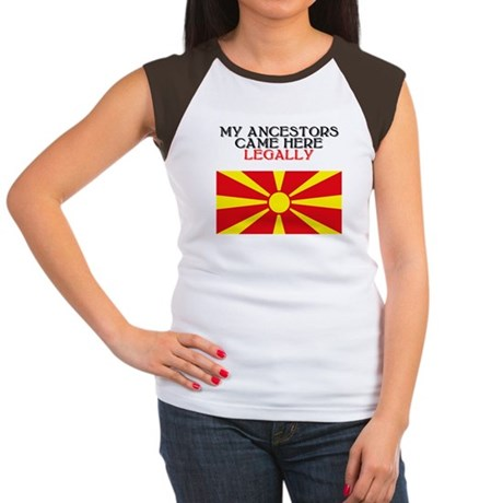 Macedonian Heritage Women's Cap Sleeve T-Shirt