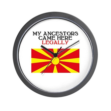 Macedonian Heritage Wall Clock