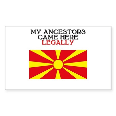 Macedonian Heritage Rectangle Sticker