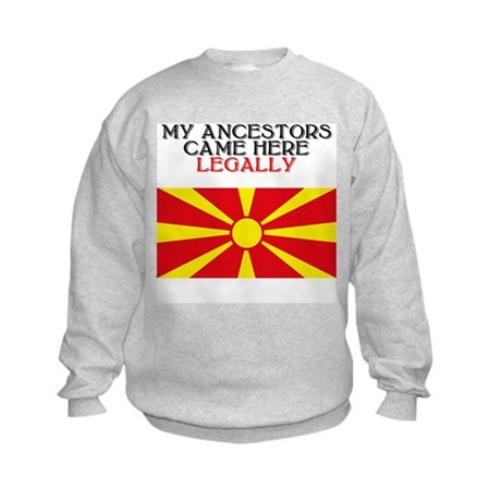 Macedonian Heritage Kids Sweatshirt