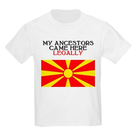 Macedonian Heritage Kids T-Shirt