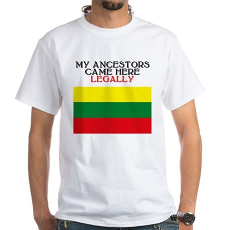 Lithuanian Heritage White T-Shirt