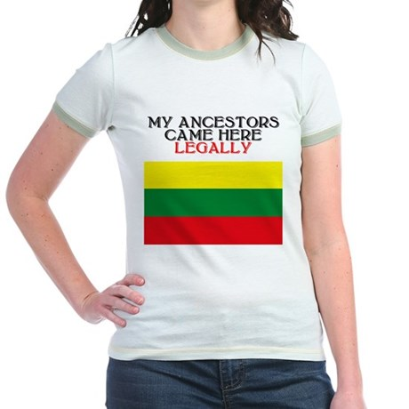 Lithuanian Heritage Jr. Ringer T-Shirt