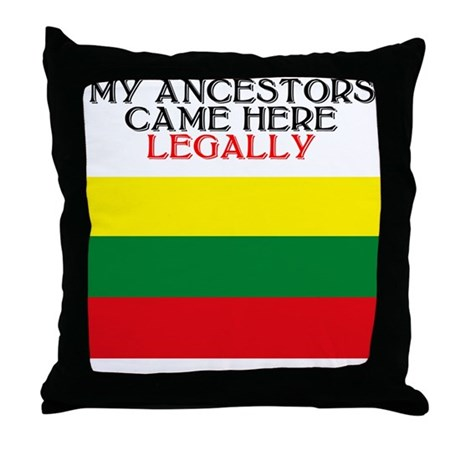 Lithuanian Heritage Throw Pillow