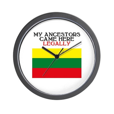 Lithuanian Heritage Wall Clock