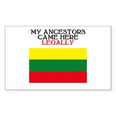 Lithuanian Heritage Rectangle Sticker