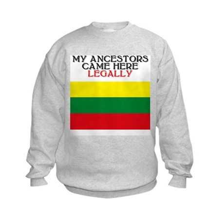 Lithuanian Heritage Kids Sweatshirt
