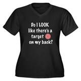 Target On My Back Women's Plus Size V-Neck Dark T-