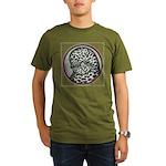 Splash Tumbler Head Organic Men's T-Shirt (dark)
