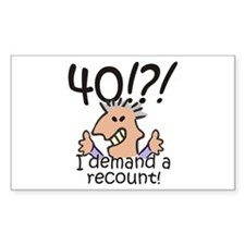 Recount 40th Birthday Decal