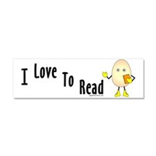 Love To Read Car Magnet 10 x 3