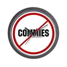 No Commies Wall Clock