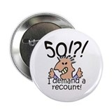 "Recount 50th Birthday 2.25"" Button"
