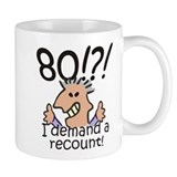 Recount 80th Birthday Mug