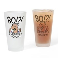 Recount 80th Birthday Drinking Glass