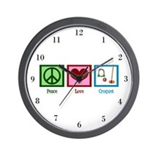 Peace Love Croquet Wall Clock