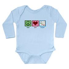 Peace Love Croquet Long Sleeve Infant Bodysuit