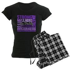 I Wear Violet 46 Hodgkin's Lymphoma Pajamas