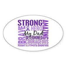 Tribute Square Hodgkin's Lymphoma Decal