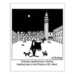 Dracula Vacationing In Venice Small Poster