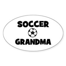 Soccer Grandma Oval Decal