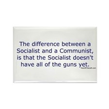 Socialist and Communist Rectangle Magnet