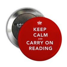 "Keep Calm Carry On Reading 2.25"" Button"
