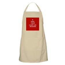 Keep Calm Carry On Reading Apron