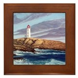 Peggy's Cove Lighthouse Framed Tile