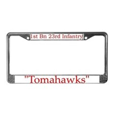 1st Bn 23rd Infantry License Plate Frame