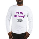 It's My Birthday! Elephant Long Sleeve T-Shirt