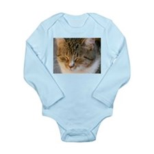 Tabby Cat Love Long Sleeve Infant Bodysuit