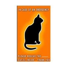 Cat Emergency Sticker Orange