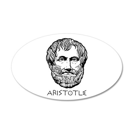 Aristotle 38.5 x 24.5 Oval Wall Peel