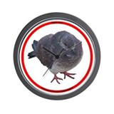 I brake for pigeons Wall Clock