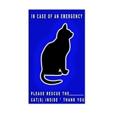 Cat Emergency Sticker Blue