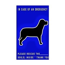 Dog Emergency Sticker Blue