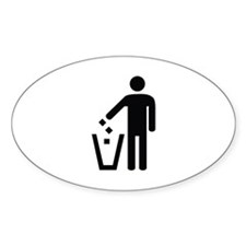 Litter Container Image Decal