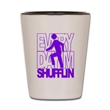 Everyday I'm Shufflin Purple Shot Glass