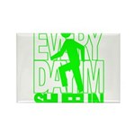 Everyday I'm Shufflin Green Rectangle Magnet