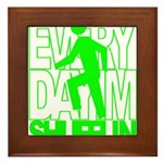 Everyday I'm Shufflin Green Framed Tile