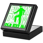 Everyday I'm Shufflin Green Keepsake Box