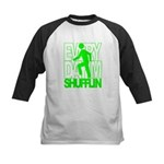 Everyday I'm Shufflin Green Kids Baseball Jersey