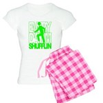 Everyday I'm Shufflin Green Women's Light Pajamas