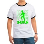 Everyday I'm Shufflin Green Ringer T