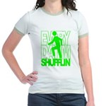 Everyday I'm Shufflin Green Jr. Ringer T-Shirt